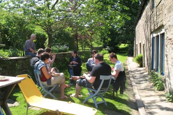 Lunch in garden