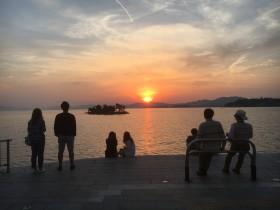 Sunset over Lake Shinji. SW 23/5/17