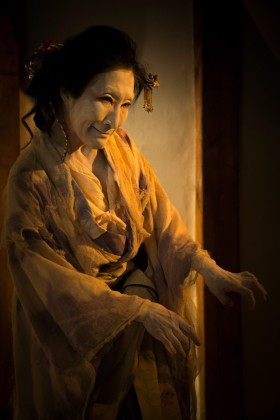 """""""This earthen storehouse—the Butoh-kan, survived the upheavals of 150 years ago, escaping pristine from the fires of the riots as if it were sacred ground protected by the divinity of water. Following the aspirations of this generation, I would like to present Butoh which offers the pure bright energy of water—the great source of all life and healer of beings."""""""