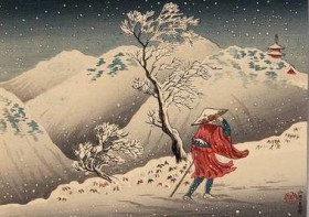 'Traveller in the Snow' by Takahashi Hiroaki
